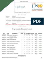 Registro Académico Individual