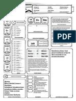 Ficha de Draconato Clérigo - D&D-5E