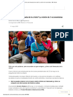 ¿Cómo Sale Venezuela de La Crisis_ La Visión de 3 Economistas - BBC Mundo