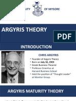 Argyris Maturity Theory by Ramesh