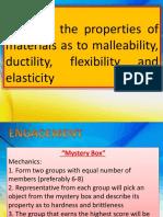 Characteristics Od Solid