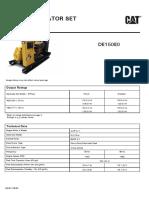 150 KVA Caterpillar DE33E0 Diesel Generator Set