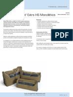 Albond and Alcast Extra HS Monolithics