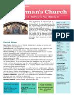 st germans newsletter - 30 june 2019 - sts peter   paul