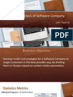 Case Study of Software Industry using SAS