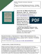 Contributions to the Mechanism of Isobutene Polymerization