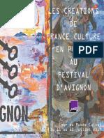 Les créations de France Culture au Festival d'Avignon 2019