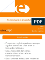 Nomenclatura de grupos funcionales (2)