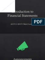 ACCY111 T1 Wk 2 L2 Introduction to Financial Statements