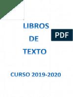 Libros de Texto 2019-20