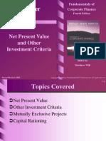 9. NPV, IRR & PI