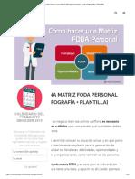 Cómo hacer una matriz FODA personal paso a paso [Infografía + Plantilla]