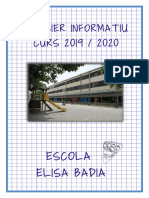 Dossier informatiu. Curs 2019-20. Escola Elisa Badia