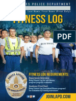 LAPD Fitness Brochure