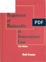 Ruth Donner, The Regulation of Nationality in International Law, 2nd Edition