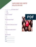 Libreta de Calificaciones Para Clientes Chocolates Tentación