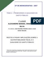 1 Lugar - Alexandre Manoel Angelo Da Silva