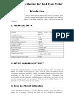 Pp k24 Electronic Turbine Flowmeter