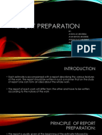 Report Preparation (2)