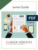 Resume Guide 2018