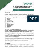 UFS TSD Relatório Final