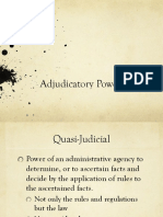 Adjudicatory Powers 2