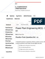 Power Plant Engineering MCQs PDF