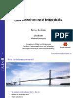 Wind Tunnel Testing of Bridge