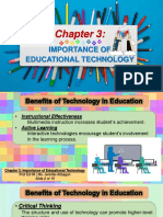 Prof Ed 06 Chapter 3 Importance of Educational Technology