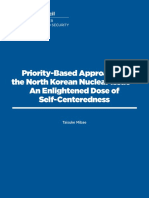 Priority-Based Approach to the North Korean Nuclear Issue—An Enlightened Dose of Self-Centeredness