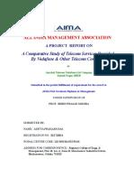 Aditya Telecom Project mba sip project