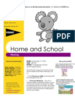 Revised Home and School Meeting Flyer November 2010