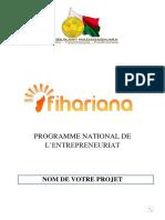 Canevas Business Plan Fihariana