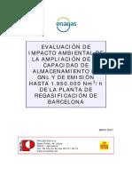 Estudio de Impacto Ambiental Del 7º y 8º Tanque de GNL y Ampliación de La Capacidad de Emisión Hasta 1.950.000 Nm3_h de La Planta de Barcelona