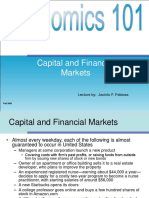 Fabio s a Lecture 12 Capital and Financial Market