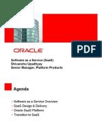Saas Oracle Presentation