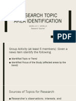 Research Topic Area Identification