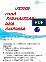 Requisitos Para Formalizar Una Empresa CON DETALLE