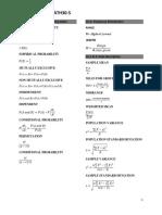 Prob Stat Formula