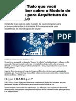 RAMI 4.0 - Modelo de Referência Para Arquitetura Da Indústria 4.0