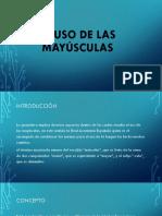 USO DE MAYUSCULAS