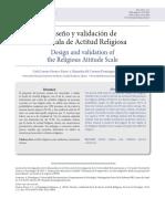 Diseño y Validación de La Escala de Actitud Religiosa
