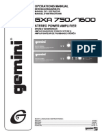 Gemini GXA-1600 User Manual