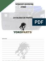 Catalogo Partes Generador Gasolina Et950