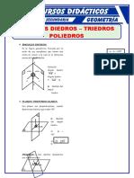 Ángulos Diedros y Triedros Para Cuarto de Secundaria