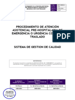01. CAR.P.eme.02 Procedimiento Atencion Asistencial Pre Hospitalaria de Emergencia o Urgencia v.03