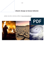 The Impact of Climate Change on Human Behavior