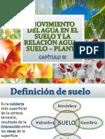3-Movimiento Del Agua en El Suelo y La Relación Agua – Suelo – Planta