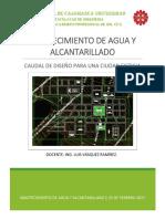 Caudal de Diseño Para Una Ciudad Ficticia