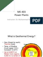 Week-15 (Geo Thermal Powerplants)
